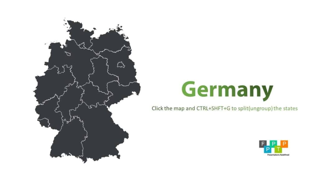 Simple Map Of Germany.Download Germany Map For Powerpoint Download Free Powerpoint