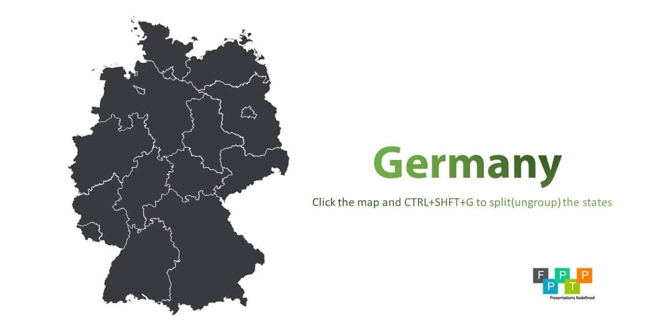 Download germany map for powerpoint download free powerpoint in todays listing we are adding germany map for powerpoint that you can download for free and use it in any of your presentation toneelgroepblik Images